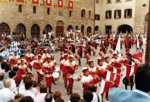 L'entrata in Piazza dei Priori