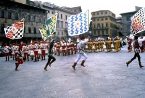 Sbandieratori in Santa Croce